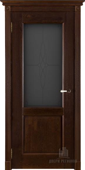 Межкомнатная дверь из массива дуба Селена (стекло)