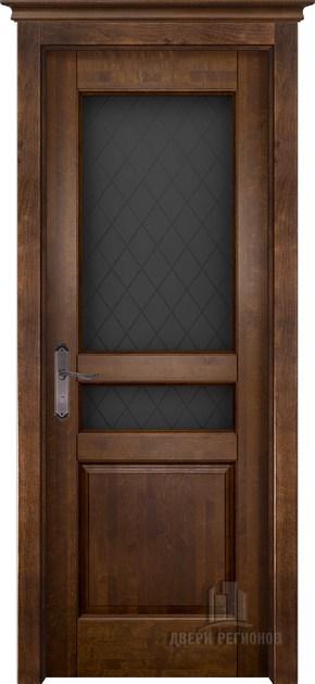 Межкомнатная дверь из массива ольхи Гармония (стекло)