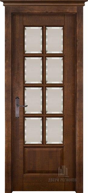 Межкомнатная дверь из массива ольхи Лондон (стекло) - под заказ