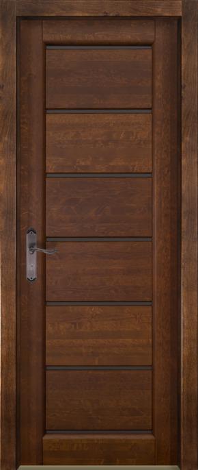 Межкомнатная дверь из массива ольхи Премьер (стекло) - под заказ