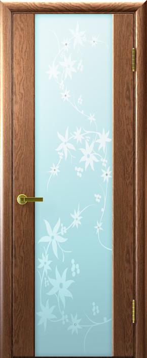 Межкомнатная дверь Техно-3 - белый триплекс (цветы)