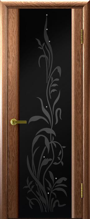 Межкомнатная дверь Техно-3 - черный триплекс (Эксклюзив)
