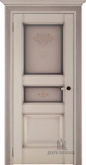 Межкомнатная дверь Терзо - кашемир тон 12 (стекло бронза Кристалайз N66)