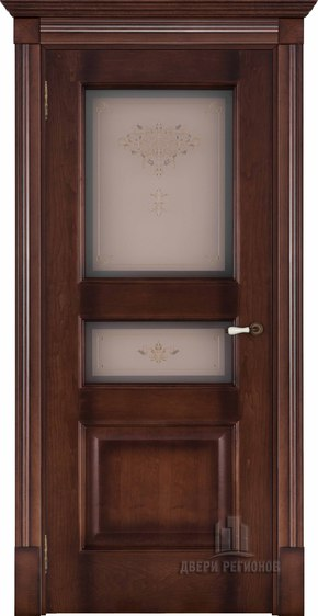 Межкомнатная дверь Терзо - орех тон 7 (стекло бронза Кристалайз N66)