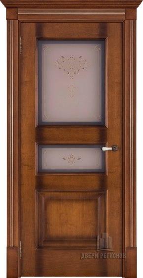 Межкомнатная дверь Терзо - cветлый мед тон 5 (стекло бронза Кристалайз N66)