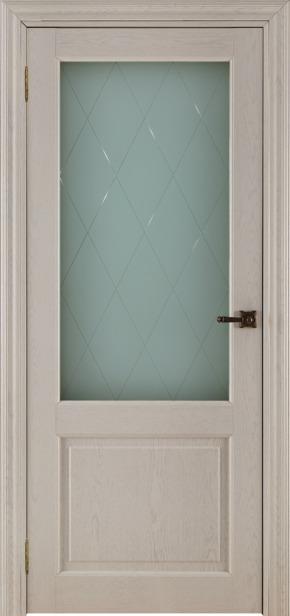 Межкомнатная дверь 40004 - дуб жемчужный (стекло Квадро)