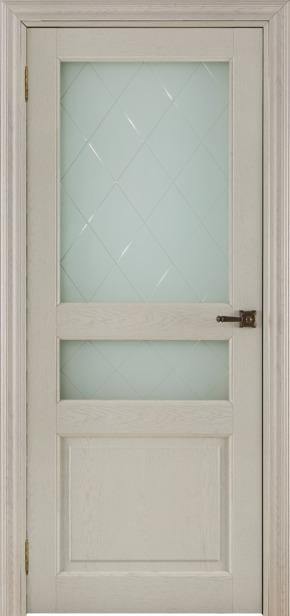 Межкомнатная дверь 40006 - дуб жемчужный (стекло Квадро)