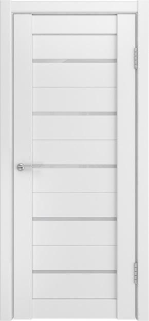 Межкомнатная дверь U-22 (белый триплекс, молочный)