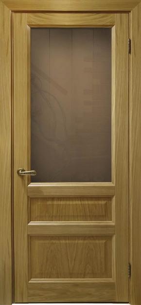 Межкомнатная дверь Атлантис-2 (дуб натуральный) - стекло