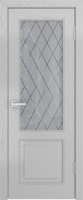 Межкомнатная дверь Нео-1 (ясень манхэттен) - стекло