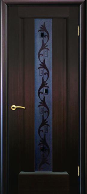 Межкомнатная дверь Гиацинт (стекло)  - венге