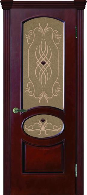 Межкомнатная дверь Жемчужина-2 (стекло) - анегри шоколад