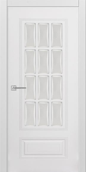 Межкомнатная дверь Карина 28 эмаль белая (стекло)
