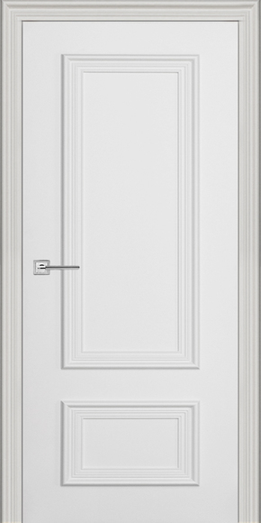 Межкомнатная дверь Премьер-1, эмаль белая, багет (глухая)