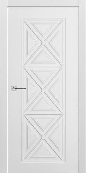 Межкомнатная дверь Турин-18, эмаль белая (глухая)