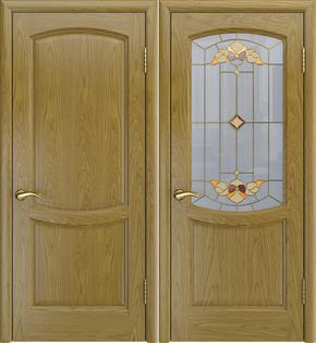 Межкомнатная дверь Аврора-3 (дуб натуральный) - стекло