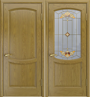 Межкомнатная дверь Аврора-3 (дуб натуральный) - глухая