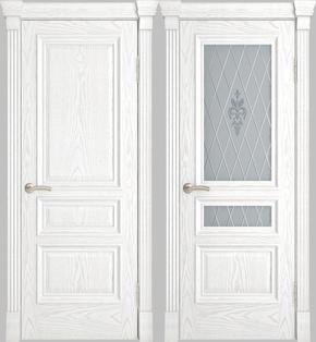 Межкомнатная дверь Галант (альба) - стекло