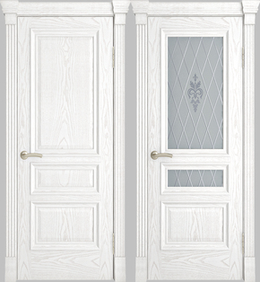 Межкомнатная дверь Галант (альба) - глухая