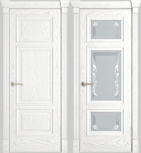 Межкомнатная дверь Грация (альба) - стекло