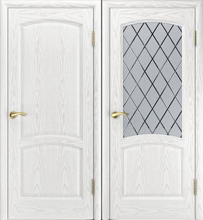 Межкомнатная дверь Истра (альба) - стекло