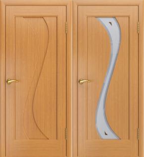 Межкомнатная дверь Лора (дуб розовый) - глухая