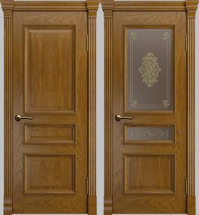Межкомнатная дверь Натали (дуб бренди) - глухая