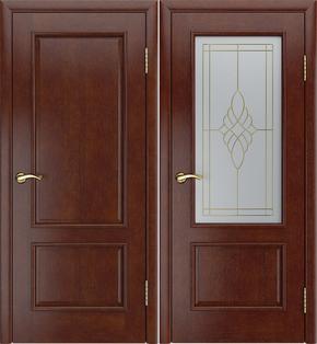 Межкомнатная дверь Ника-1 (темный анегри) - стекло