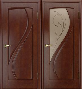 Межкомнатная дверь Танго (темный анегри) - стекло